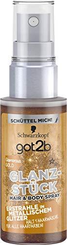 Schwarzkopf got2b Glanzstück Glamorous Gold, 1er Pack (1 x 50 ml) (Spray Gold Haar)