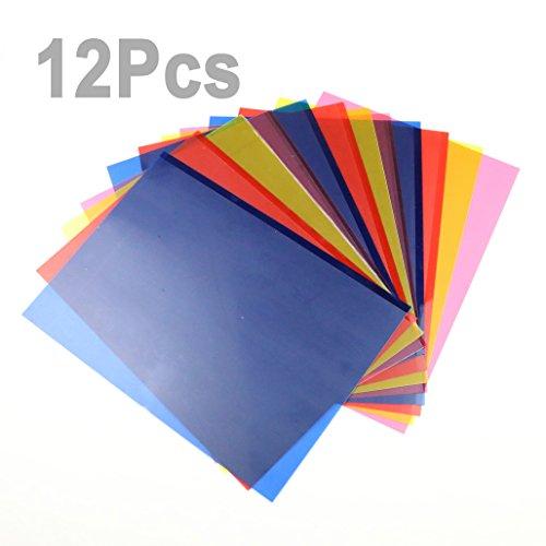 12pcs-4-color-transparent-correction-gel-lighting-filter-colored-overlays-tinted-plastic-film-sheet-