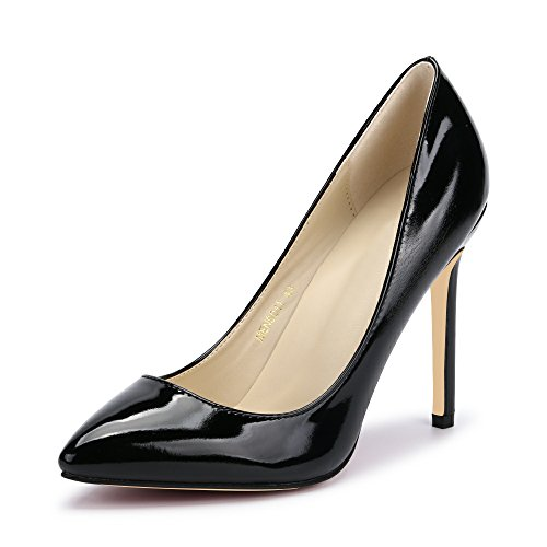 Women Sexy Pumps PU Closed Toe High Heel Shoes Black Asian 46-UK...