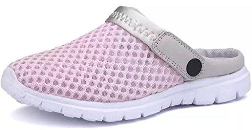 Eagsouni Sommer Slip-on Clogs Hausschuhe Atmungsaktiv Mesh Pantoletten Outdoor Rutschfest Sandalen Herren Damen Schuhe