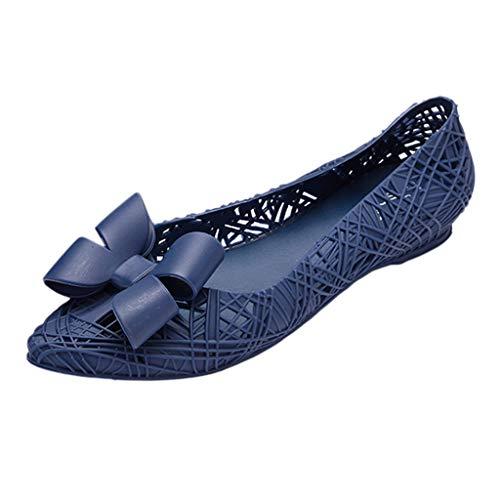 HOUMENGO Bailarinas Mujer Sandalias de Mujer Zapatos Planos del tacón Sandalias De Verano Antideslizantes...