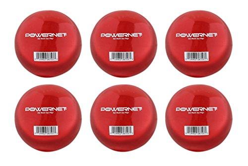 PowerNet Gewichteter Hitting and Batting Trainingsball, 6er-Pack -