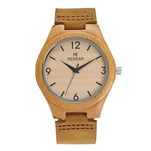 Bamboo Watch Fashion Gürtel Bamboo Watch Leather Fashion Bamboo Bamboo Men -