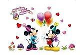 Disney Mickey Mouse - Adesivo da parete per bambini con motivo Disney Minnie e pall
