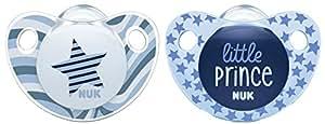 NUK Ciuccio in silicone Trendline, ortodontico, privo di BPA, 2pezzi