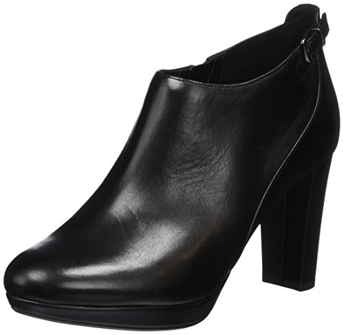 Clarks Kendra Spice, Stivaletti Donna, Nero (Black Leather), 40 EU