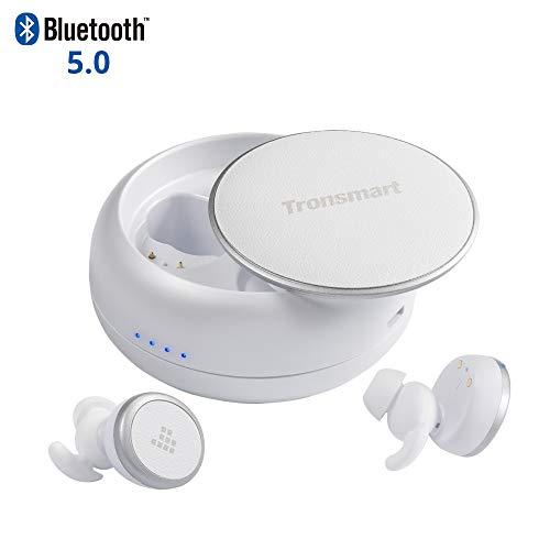 Tronsmart Auricolari Bluetooth Sport 5.0, TWS Cuffie Waterproof Wireless, Autonomia di 12 Ore, Doppio Microfono e CVC 6.0 Stop Rumore, IPX5 Impermeabile, Cuffiette Senza Fili per iPhone e Android