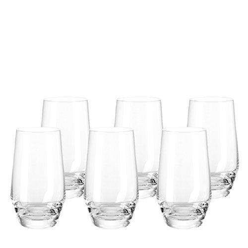 Leonardo 069558 Puccini Set 6 Becher groß, Glas, klar, 7.5 x 7.5 x 13 cm, 6 Einheiten