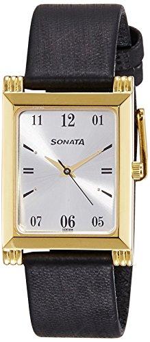 41YOOUfnguL - Sonata 77036YL01 Silver Mens watch