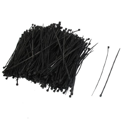 sourcingmap-1000-pcs-110mm-x-2mm-self-locking-wire-cable-zip-tie-43-black