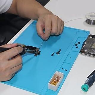 DANIU 34x23 cm Hitzebeständigem Silikon Pad Schreibtisch Matte Wartung Plattform Wärmedämmung BGA Löten Reparatur Station mit 20 cm Skala herrscher