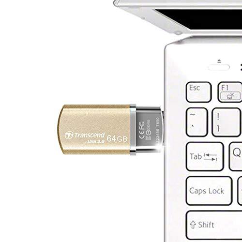 Transcend Jetflash 820 USB 3.0 64GB Pen Drive (Gold)