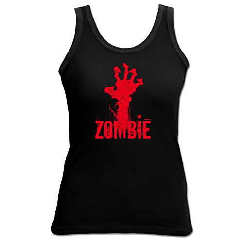 Halloween Zombie 4 Girls Beach Tanktop Geschenk geil bedruckt Goodman Design ()