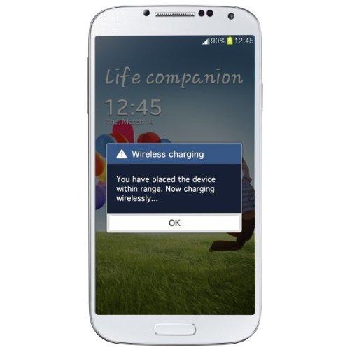 Zens ZEK2S4W/00 kabelloses Ladegerätbundle für Samsung Galaxy S4 i9500 weiß (Akkufachdeckel & Ladestation) (Charger Bundle Single)