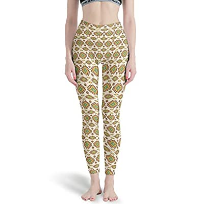 AWAWE Ethnic Pattern with Eyes Tights Leggings Gym Outfits