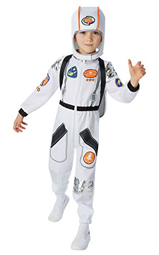 Astronaut Kinder Kostüm Für (Rubie 's Offizielles Astronaut Jungen Fancy Kleid SPACE MAN NASA Uniform Kid Kinder Kostüm Outfit passt Medium Alter)