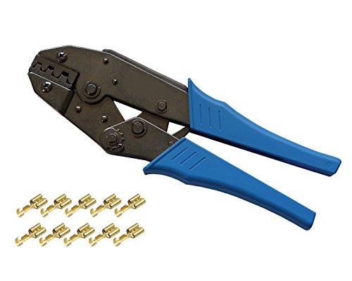 Preisvergleich Produktbild Crimpzange für unisolierte Kontakte 0,50²-6,00mm² Presszange Quetschzange