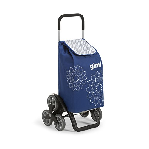 Gimi Tris Floral Carrello Portaspesa, Blu