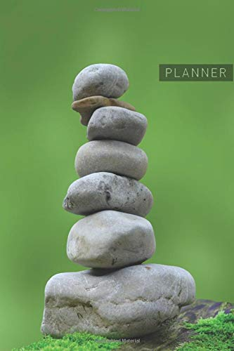Planner: Meditation Zen Stones 1 Year Daily Planner (12 Months) | Spiritual Wellness Relaxation Yoga Meditate | 2020 - 2021 | 365 Pages for Planning | ... | Plan Each Day Set Goals & Get Stuff Done