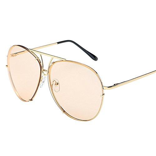 KUDICO Sonnenbrille Unisex Brillen UV400 Schutz Metall Rahmen Pilotenbrille Polarisierte Verspiegelt Linse Reflektierende Fliegerbrille(H, One Size)