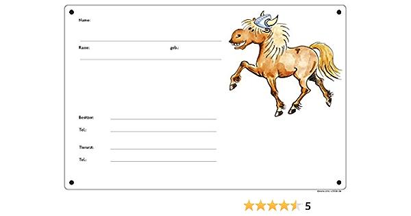 Boxenschild Wikinger-Pony Stalltafel Rappe Isi Islandpferd // Isländer
