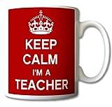 GreatDeals4you Keep Calm I 'm a Teacher Tasse Retro-Geschenk