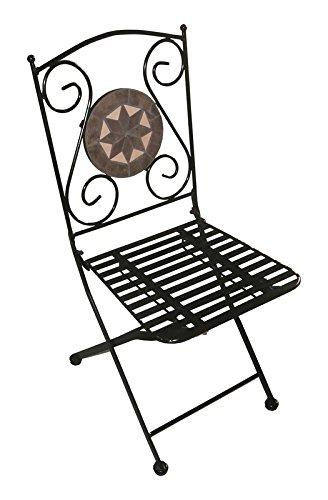 Sedie Pieghevoli In Ferro Battuto.Arredo Per Esterno Tavolino Con Mosaico 2 Sedie In Ferro