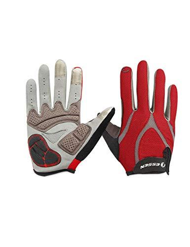 WYSTAO Touchscreen Handschuhe für männer und Frauen frühling und Sommer bergstraße Fahrrad Motorrad Fahren stoßdämpfer vollfingerhandschuhe (Farbe : L)