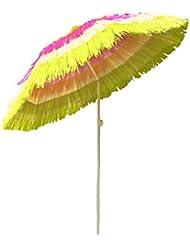 Greenbay, ombrellone hawaiano per spiaggia, cortile, giardino. Ombrello parasole inclinabile. multicolore Multicolour