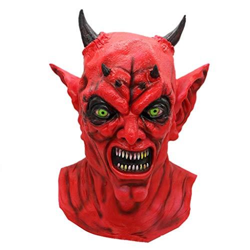 GXDHOME Halloween Latex Kopf Masken, Teufel Spukhaus Monste Ghost Grimasse Kostüm Horror Zombie Teufel lustige Maskerade Scary Creepy Fancy ()