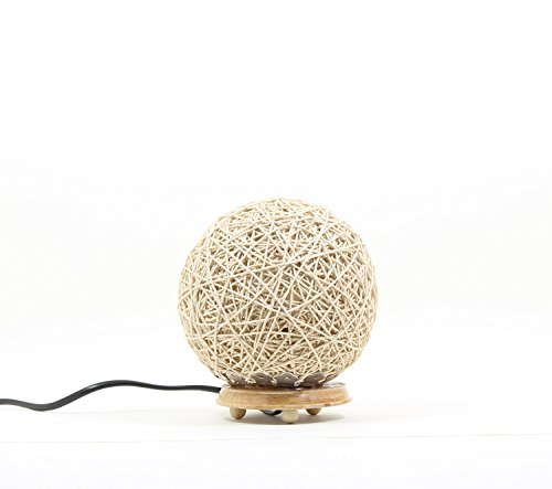 Eartho Table Lamp with yarn (Small, Beige)