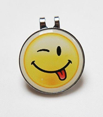 Cap-Clip mit Golfball Marker mit Logo SMILE -