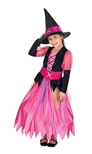 Boland 78065 - Kinderkostüm Hübsche Hexe, Größe 158, Pink (Halloween Kostüme Für 11 12 Jährige)