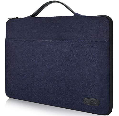 """ProCase 14-15.6 Zoll Hülsen-Abdeckungs-Tasche für 15\"""" MacBook Pro 2016, Ultrabook Notebook Tragetasche Handtasche für 14\"""" 15\"""" ASUS Acer Lenovo Dell HP Toshiba Chromebook Computers -Dunkelblau"""
