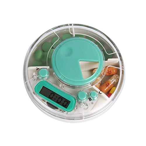 LIGHTOP 3 Compartment Pille Dispenser Box Wasserdicht Elektronische Medikamente Erinnerung mit Wecker Timer für Käufer Mann ältere Kinder - Pille-dispenser-timer