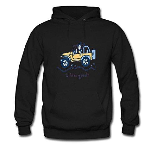 weileDIY jeep girl DIY Custom Women's Classic Hoodie Sweatshirt Black