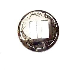 10 STK. Conchos silver Star zum auffädeln Ø 28 mm
