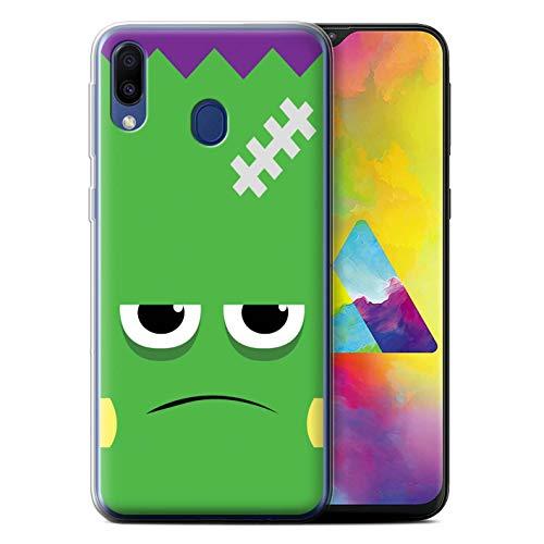 eSwish Gel TPU Hülle/Case für Samsung Galaxy M20 2019/M205 / Frankenstein Muster/Halloween Zeichen Kollektion (Halloween 2019 Frank)