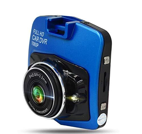 CARZJ NewAuto Dash Cam 1080P HD Stealth Driving Recorder Kamera Videorecorder Bewegungserkennung Nachtsicht G-Sensor Auto Geschenk Blau (Ohne TF-Karte)