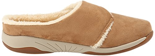 Propet Morgan Large Velours Mules Camel
