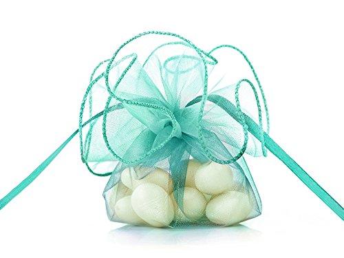 20 Stück Organza- Beutel türkis für Hochzeit Taufe Kommunion Konfirmation Baby
