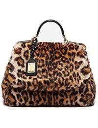 Dolce   Gabbana Borsa A Mano Donna BB6620AM88380006 Acrilico Beige Marrone c3f02f73101