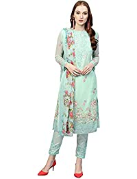 Applecreation Women'S Georgette Salwar Suit Material (Sea Green_Free Size)