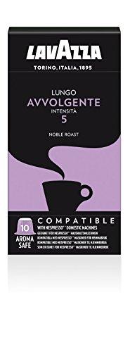Lavazza Lungo Avvolgente, 50 Nespresso kompatible Kapseln (5 x 10 Kapseln)