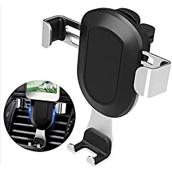 Support Telephone Voiture - MOREZONE Fixation Support Téléphone Portable Voiture Ventilation à Grille d'aération 360 Degrés pour iPhone 7/ 6s/ 5, Samsung Galaxy S8 Sony Android Huawei