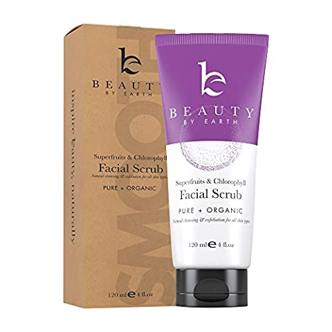 Organic Microdermabrasion Facial Scrub & Cleanser, Natural & Organic Ingredients, Exfoliating Face Wash for Deep Pore Cleansing and Anti Aging Best for Mens and Women Acne, Dry, Oily or Sensitive Skin