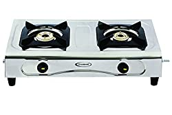 Sunshine Double Burner Sleek & Elegant Stainless Steel Gas Stove