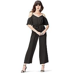 find. Cold Shoulder Combinaison Femme, Noir (Black), 42 (Taille Fabricant: Large)