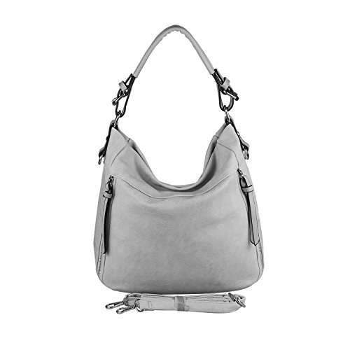 OBC Only-Beautiful-Couture, Borsa tote donna grigio Hellgrau 37x29x13 cm ca.: 37x29x13 cm (BxHxT) Hellgrau 37x29x13 cm