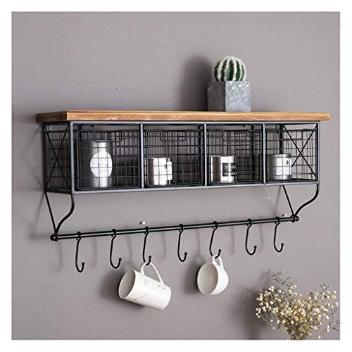 Estantería de pared minimalista y moderna, estante de almacenamiento de cajones de...